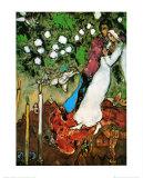 Tres velas Láminas por Marc Chagall