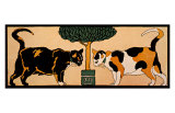 Two Cats Giclee Print