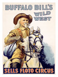 Buffalo Bill's Wild West, Sells Floto Circus Giclee Print