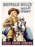 Buffalo Bill, salvaje oeste en Sells-Floto Lámina giclée