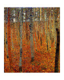 Beach Forest Reproduction procédé giclée par Gustav Klimt