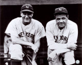 Babe Ruth et Lou Gehrig Photographie