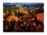 Tuscan Castle Art by Philip Craig
