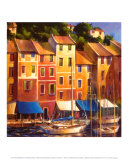 Portofino Waterfront Prints by Michael O&#39;Toole