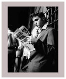 Elvis Presley Reading the Paper in London, 1958 Posters