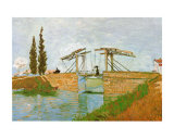 The Langlois Drawbridge Posters by Vincent van Gogh