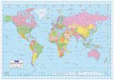 Siyasi Dünya Haritası - Poster