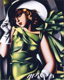 Mädchen in grün Kunstdrucke von Tamara de Lempicka