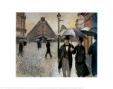 Paris, a Rainy Day, 1877 Posters by Gustave Caillebotte