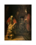 Return of the Prodigal Son Posters by Rembrandt van Rijn 