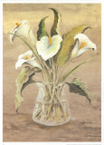 White Lilies in Crystal Poster by L. Romero