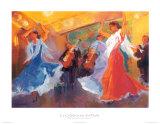 La Celebracion del Baile Prints by Sharon Carson