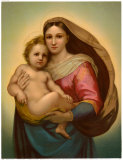 Madonna Prints by Raphael 