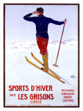 Sports d'Hiver dans les Grisons Giclee Print by Walter Koch