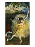 Fin d'Arabesque Giclée-tryk af Edgar Degas