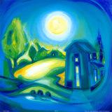 Beim Licht des silbrigen Mondes I Kunstdruck von Heinz Voss
