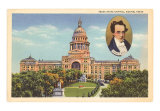 Austin State Capitol, Texas Art Print
