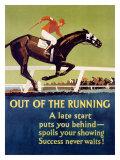 Frank Mather Beatty - Out of the Running Digitálně vytištěná reprodukce