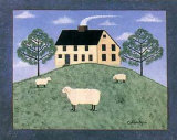 Sheep on the Hillside Print by Colleen Sgroi