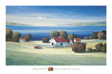 Barns on Gamble Bay Prints by Max Hayslette