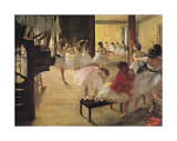 Ballet School Art by Edgar Degas