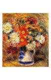 Jarrón con crisantemos Lámina giclée por Pierre-Auguste Renoir