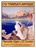 Transatlantique, Marseille Giclee Print by Georges Villa