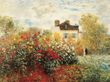 De tuin van de kunstenaar in Argenteuil Poster van Claude Monet
