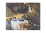 Mittagessen Kunstdrucke von Claude Monet