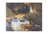 Lunch Prints by Claude Monet