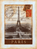Destination Paris Affiches par Tina Chaden