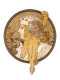 Round Portrait, 1897 Giclee Print by Alphonse Mucha