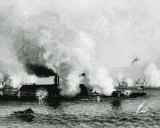 CSS Virginia vs USS Monitor Photo