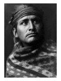 Young Brave Giclee Print by Edward S. Curtis