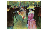 Dance at Moulin Rouge Lámina giclée por Henri de Toulouse-Lautrec
