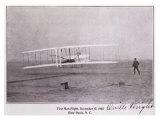 Wright Brothers Flight at Kitty Hawk Wydruk giclee