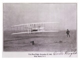Wright Brothers Flight at Kitty Hawk - Giclee Baskı