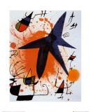 L'Etoile Bleu Plakater af Joan Miró