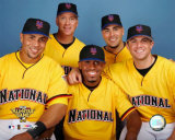 Carlos Beltran, Tom Glavine, Jose Reyes, Paul LoDuca and David Wright 2006 All Star Game Photo