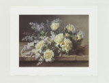 Still Life of Yellow Roses Posters by Raoul