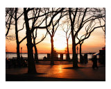Battery Park During a NYC Sunset Giclee Print by New Yorkled