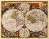 Karte der neuen Welt, 17. Jahrhundert Kunstdrucke von Nicholas Visscher