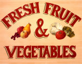 Fruits & Vegetables Sign Art by Madison Michaels