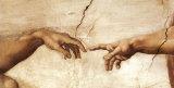 Die Erschaffung Adams, ca. 1510 (Detail) Kunstdruck von  Michelangelo Buonarroti