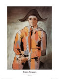 Harlequin with Folded Hands, c.1923 ポスター : パブロ・ピカソ