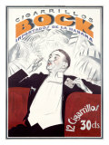 Bock Cigarrillos Giclee Print by Achille Luciano Mauzan