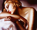 Die Schl&#228;ferin Kunstdruck von Tamara de Lempicka