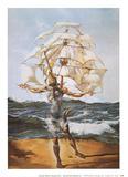 船 高品質プリント : サルバドール・ダリ