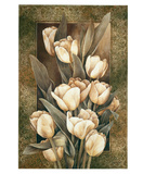 Tulipes dor&#233;es Affiche par Linda Thompson