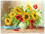 Sonnenblumen Art by E. Kruger